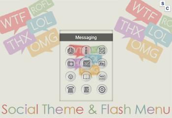 Social Theme and Flash Menu