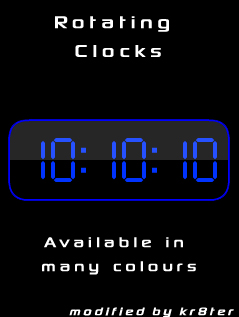 Rotating Clocks