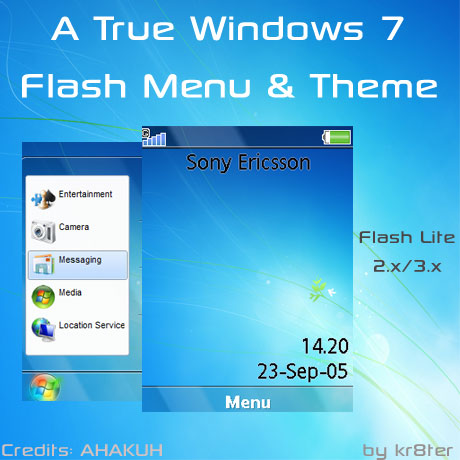 A True Windows 7 Flash Menu & Theme