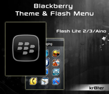 Blackberry Theme & Flash Menu