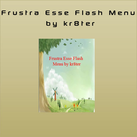 Frustra Esse Flash Menu by kr8ter