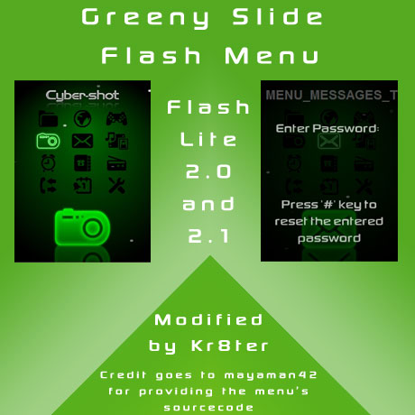 Greeny Slide Flash Menu