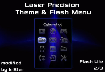Laser Precision Theme and Flash Menu