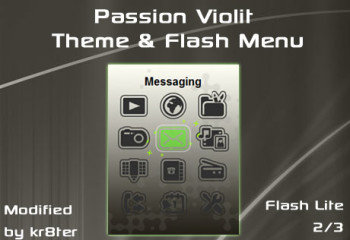 Passion Violit Theme and Flash Menu