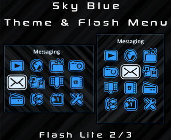 Sky Blue Theme & Flash Menu