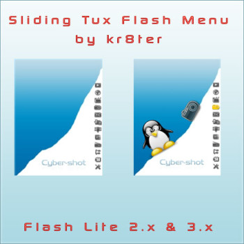 Sliding Tux Flash Menu by kr8ter