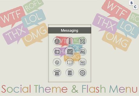 Social Theme & Flash Menu