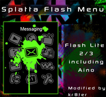 Splatta Flash Menu & Theme