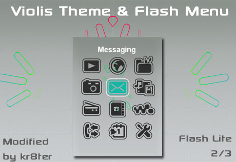 Violis Theme and Flash Menu