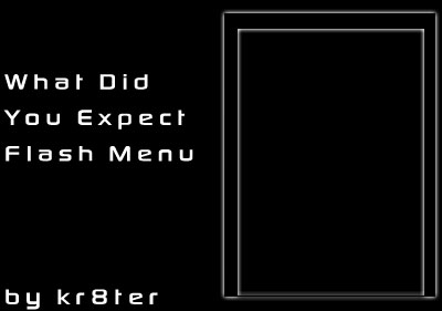 What Did You Expect Flash Menu