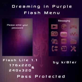 Dreaming in Purple Flash Menu
