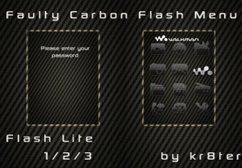 Faulty Carbon Flash Menu