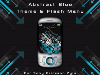Abstract Blue Theme & Flash Menu