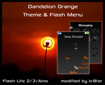 Dandelion Orange Flash Menu & Theme