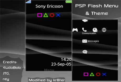 PSP Flash Menu & Theme