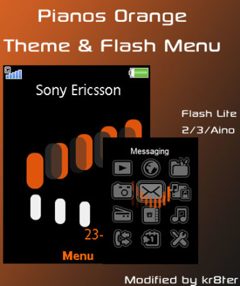 Pianos Orange Theme & Flash Menu