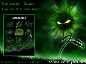 Transparent Green Theme & Flash Menu